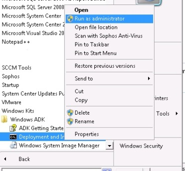 Creating a boot wim file for SCCM 2012 SP1 and R2 using