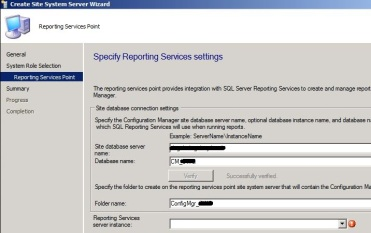 Reporting Services Point – Server Instance Blank – SCCMentor – Paul