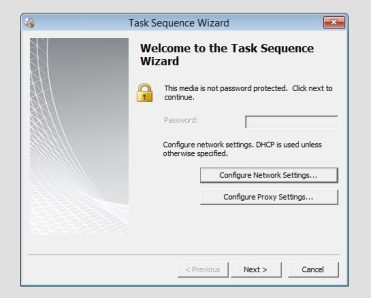 Suppress the 'Welcome to the Task Sequence Wizard' when