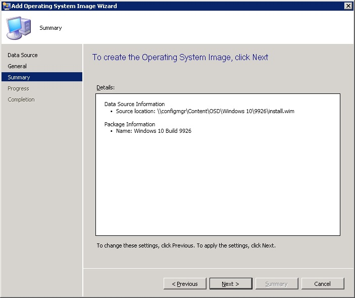 Deploying Windows 10 Preview Build 9926 via ConfigMgr 2012