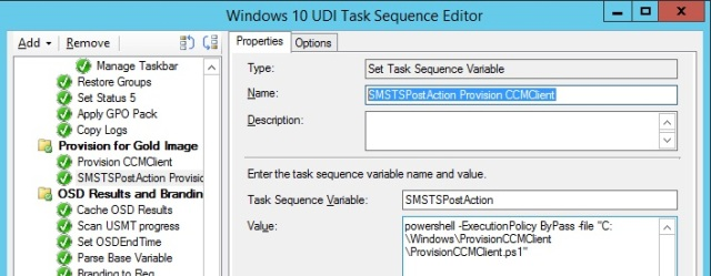Provision the ConfigMgr client during a Task Sequence build