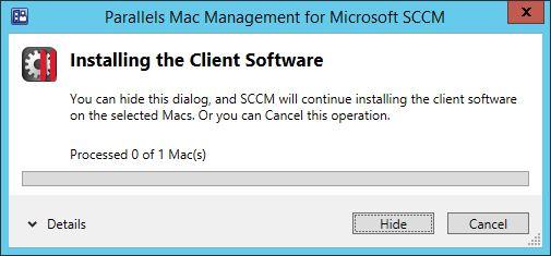 Parallels Mac Management for SCCM – Part 4 – Installing the