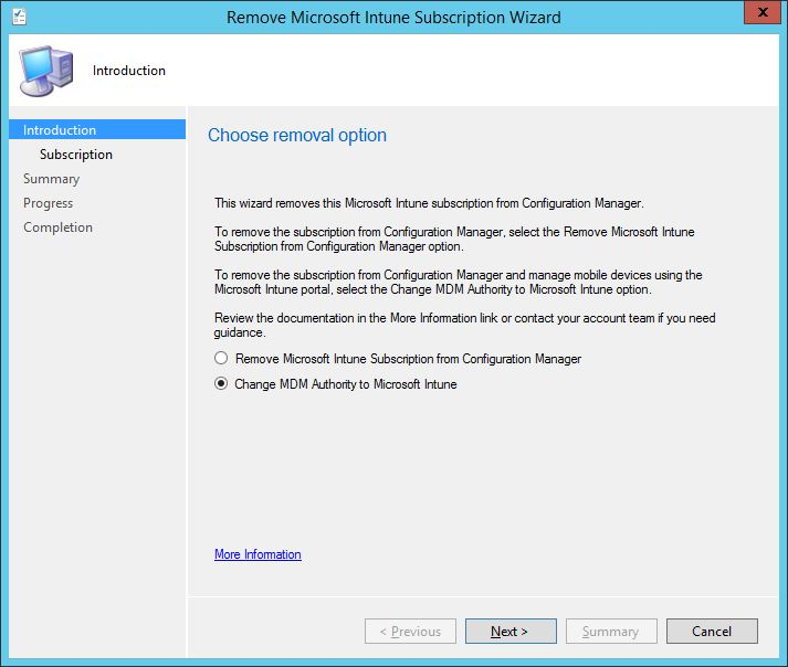 Changing MDM authority from hybrid to standalone Intune