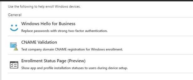 Autopilot – Enrollment Status Page for Windows 10 1803